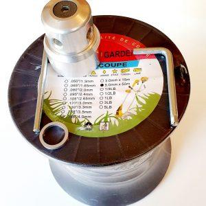 PROMO Bobine fil 50 m+tête universelle pour débroussailleuse thermique.